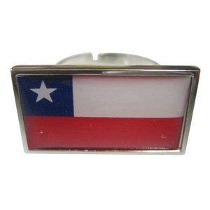 Chile Flag Fashion Ring